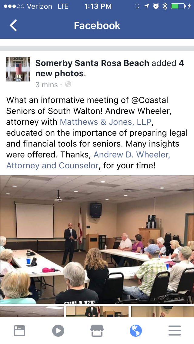Coastal Seniors Of South Walton